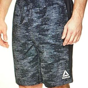 Gray Reebok basketball shorts